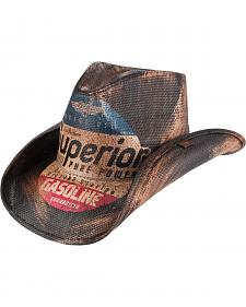 Peter Grimm Petro Printed Straw Cowboy Hat