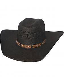 Bullhide Men's Black Jump and Kicker 20X Straw Cowboy Hat