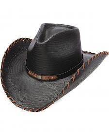 Charlie 1 Horse Men's Up All Night Black Straw Western Hat