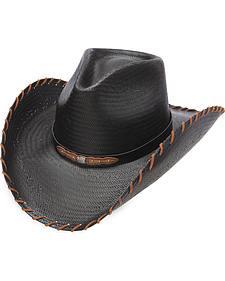 Charlie 1 Horse Men's Up All Night Black Straw Western Hat