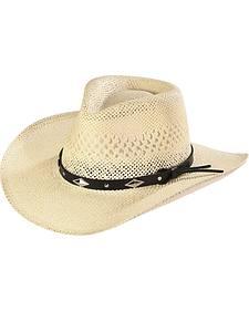 Silverado Women's Hanna Silver Diamond Concho Straw Hat