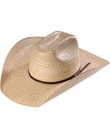 Twister Men's Shantung Straw Diamond Cowboy Hat