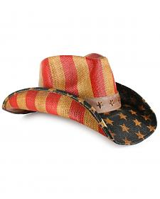 Cody James Justice American Flag Drifter Straw Cowboy Hat
