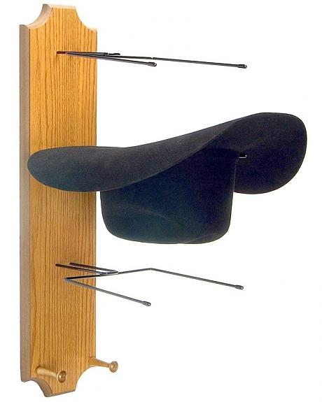 Wooden Triple Hat Rack