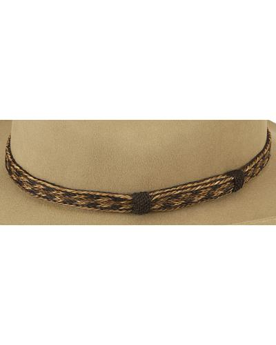 Austin Accent Braided Horsehair Hat Band Western & Country HH05K-2