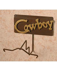 Cowboy Wall Mount Single Hat Rack at Sheplers