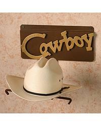 Cowboy Wall Mount Single Hat Rack at Sheplers