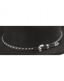 Nailhead Leather Hat Band