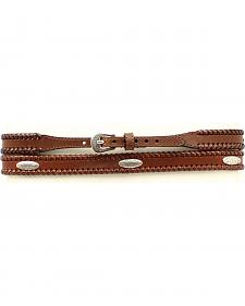 "Brown 3/4"" Oval Concho Hatband"