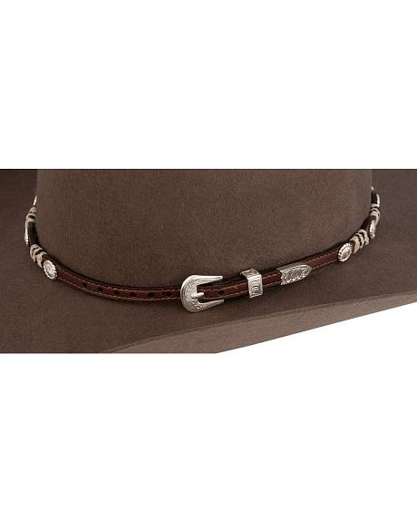 Scalloped Concho and Rawhide Hat Band