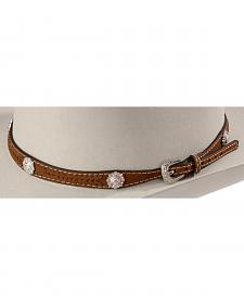 Leather Laced Concho Hat Band