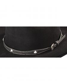 Leather Laced Diamond Concho Hat Band