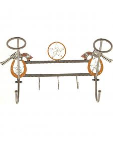 Pistol Hanging Hat Rack with Hooks
