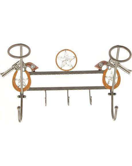 Pistol Hanging Hat Rack with Hooks