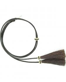 Leather with Horsehair Stampede String