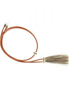 Light Brown Leather with Horsehair Stampede String