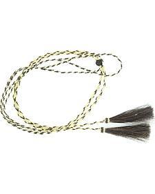 Blonde & Black Braided Horsehair Tassels Stampede String