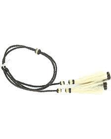 Black Braided Horsehair Tassels Stampede String