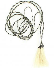 Black & Grey Horsehair Stampede String