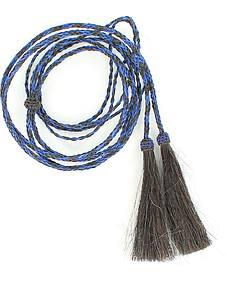 Black & Blue Horsehair Stampede String