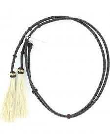 Braided Leather Blonde Horsehair Tassels Stampede String