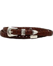 M & F Western Men's Braided Leather Concho Hatband