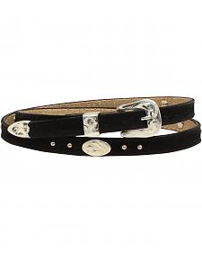 M & F Western Men's Leather Oval Concho Hatband