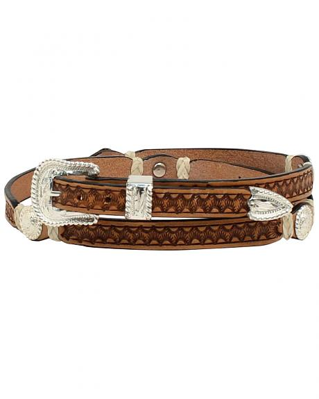 M & F Western Men's Stamp Rawhide Concho Hatband