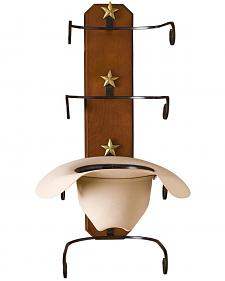 BB Ranch Birch Wood Cowboy Hat Rack