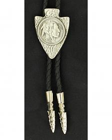 Arrowhead Indian Head Nickel Bolo Tie