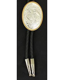 Fancy Engraved Concho Bolo Tie