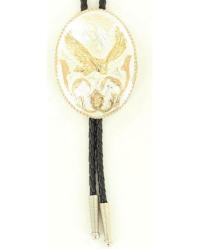 Oval Soaring Eagle Bolo Tie Western & Country C10836