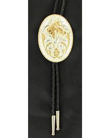 Oval Horse Head Bolo Tie
