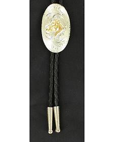 Gold-tone Horse Head Bolo Tie