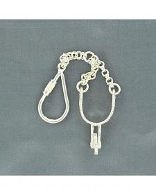 Bedecked Silver-tone Spur Key Chain