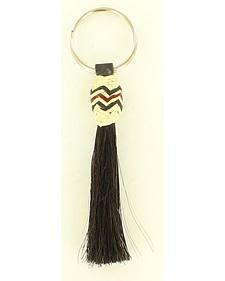M & F Western Horse Hair Rawhide Tassel Key Ring