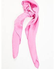 Hot Pink Jacquard Silk Wild Rag