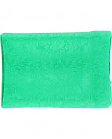 Kelly Green Jacquard Silk Wild Rag
