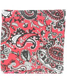 Red & Black Paisley Silk Wild Rag