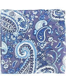 Blue & White Paisley Silk Wild Rag
