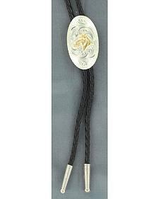 Engraved Horse Head Bolo Tie