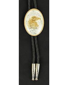 Gold-tone Eagle Head Bolo Tie