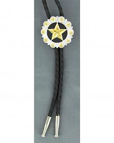 Fancy Gold-tone Star Bolo Tie