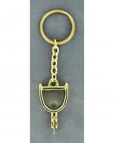 Gold-Tone Spur Key Ring
