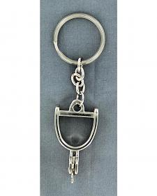 Silver-Tone Spur Key Ring