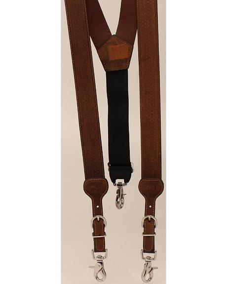 Nocona Embossed Basketweave Suspenders