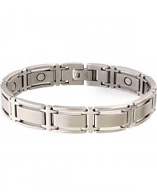 Sabona Men's Executive Symmetry Stainless Steel Magnetic Bracelet