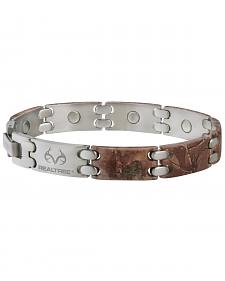 Sabona Realtree Camo Stainless Steel Sport Magnetic Bracelet