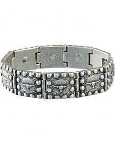 Sabona Men's Steerhead Beaded Edge Magnetic Bracelet