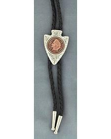 DOuble S Arrowhead & Coin Bolo Tie